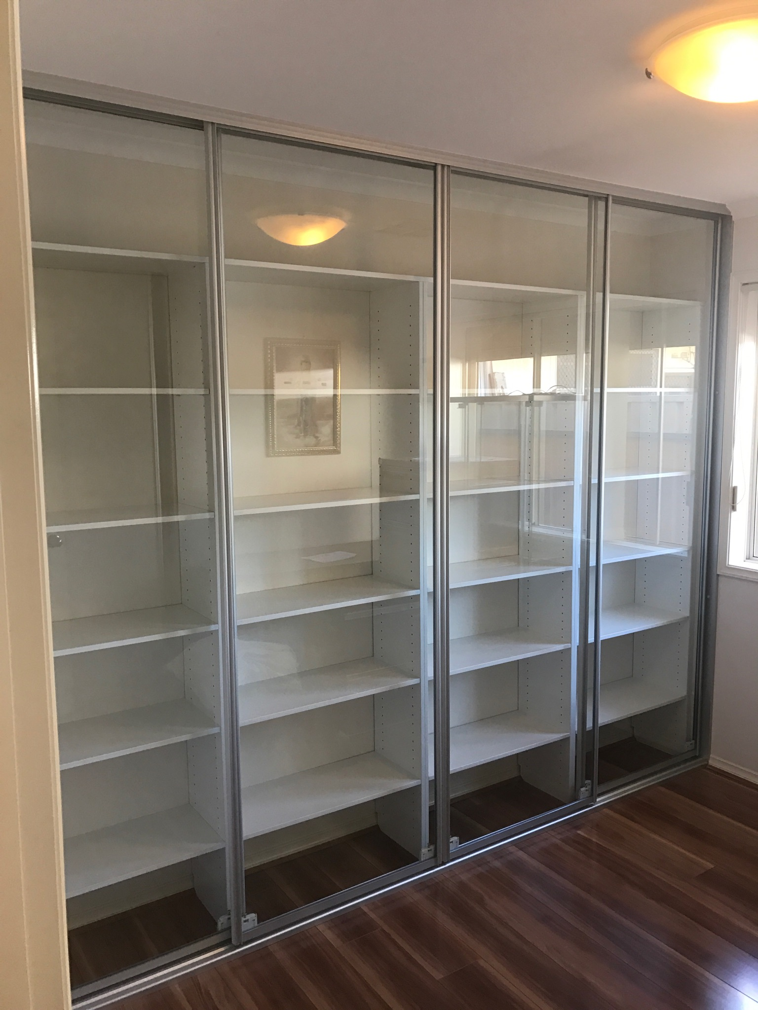 office in a wardrobe. Clear Glass Office Storage In A Wardrobe D
